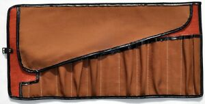 Jaguar Xk 120 Orange Burlap brown Cotton Tool Roll exact Replica Of The C 2882