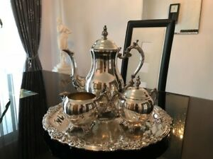 Vintage F B Rogers 4pc Silverplated Coffee Set Great Condition