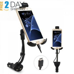 Te rich Upgraded 2 in 1 Cigarette Lighter Phone Holder Car Mount Charger