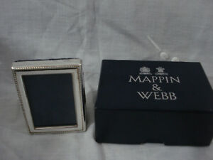 Mappin Webb Minature Sterling Silver Photo Frame New Boxed Mothers Day