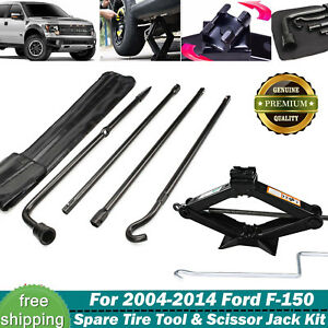 For Ford 2004 2014 F 150 Tire Wrench Set Repair Tool Scissor Jack 2tonne New
