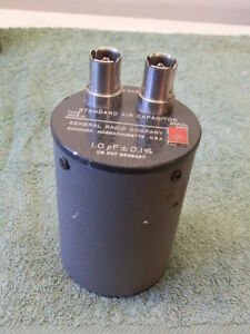 Gr General Radio 1403k Standard Air Capacitor 1 Pf 0 1 1403 k