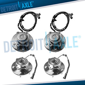 4pc 08 12 Dodge Grand Caravan Town Country Front Wheel Bearing And Rear Hub