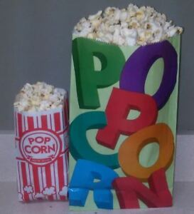 100 Extra Large Jumbo Popcorn Bags Colorful Coated Green Make Your Party Pop