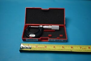 Used Starrett Rounded Outside Micrometer No 211 With Case