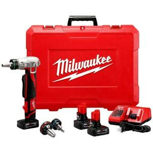 Milwaukee 2432 22xc M12 12 volt Propex Expansion Tool W Batteries