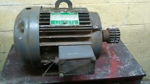 Lincoln Electric 5 Hp 3 Phase Ac Motor Tefc 1170 Rpm Made In Usa