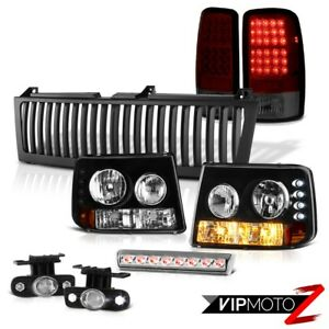 Black Headlights Red Smoke Tailights Halo Fog 3rd Brake Led 00 06 Suburban 6 0l