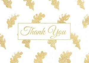 1000 Pk Gold Thank You Stickers Roll For Your Business Personalized Custom Label