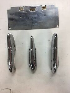 1941 Buick Front Bumper Guards License Plate Backer