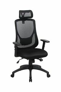 Viva Office Ergonomic High Back Mesh Chair With Adjustable Headrest And Armre