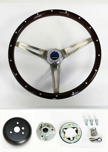 Dodge Dart Charger Demon Wood Steering Wheel High Gloss Grip 15 Ss Spokes