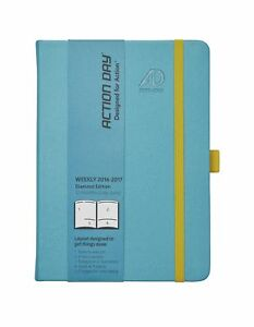 Action Day Planner 2016 2017 Academic Calendar Daily Weekly Monthly Yearl