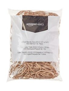 Amazonbasics Rubber Bands Size 33 3 1 2 X 1 8 600 Bands 1 Lb pack 25