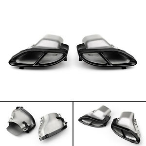 1pair Car Dual Exhaust Pipes Tail Muffler Tips For Benz W212 2014 2016 Blk Usa
