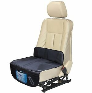 Automuko Car Seat Protector For Infant Seat With Low Back Mesh Pockets