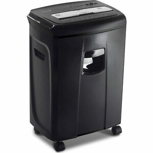 12 sheet Crosscut Paper And Credit Card Shredder With Pullout Basket Aurora