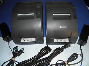 Lot Of 2 Epson Tm u220b M188b Dot Matrix Pos Receipt Printer Ethernet Lan