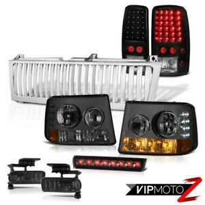 00 06 Tahoe Lt Smoke Bumper Headlamps Bright Led Tailights Fog 3rd Brake Grille