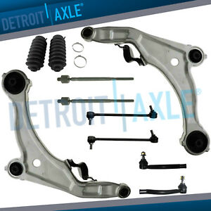 Front Lower Control Arm Tierod Sway Bar Link 10pc For 2009 2014 Nissan Maxima