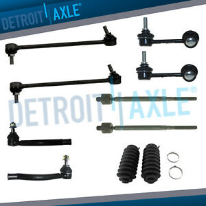 Front Rear Sway Bar Link Inner Outer Tierod W boot 10pc Kit For 2009 2014 Maxima