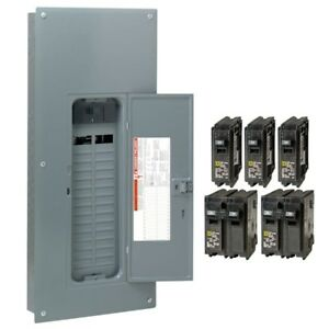 Square D 200 Amp 30 Space 60 Circuit Indoor Main Electrical Breaker Panel Box