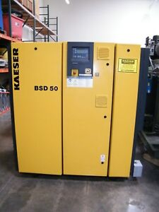 Kaeser 50 Hp Bsd 50 Rotary Screw Air Compressor Atlas Copco Ingersoll Rand