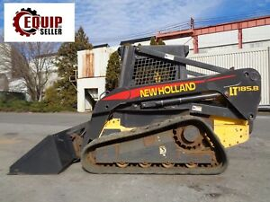 New Holland Lt185b Track Skid Steer Loader Only 714 Hours