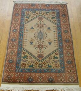 2 3 X 4 Lovely Vintage Hand Made 100 Wool Chinese Pakistani Oriental Rug