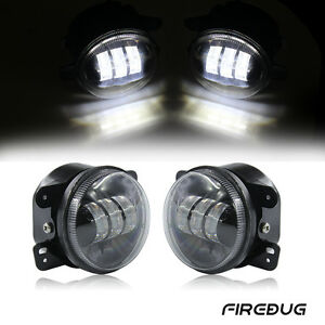 Firebug 4 Round Led Fog Lights For Jeep Wrangler Fog Lamps Led Bulb Off Road