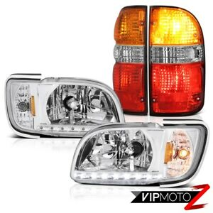 01 04 Toyota Tacoma Sr5 Red Clear Taillamps Euro Headlights Bumper Replacement