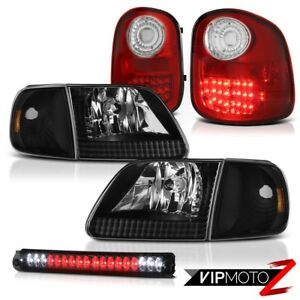Headlights Corner Red Led Tail Lights Tinted 3rd Brake 1997 2003 F150 Lightning