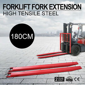74 Forklift Pallet Fork Extensions Pair Lengthen Industrial Retaining Good