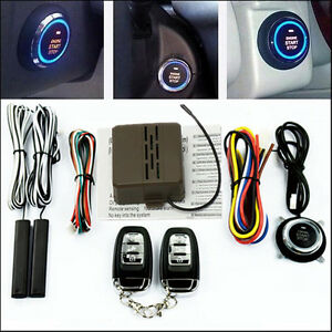 Auto Car Alarm System Security Keyless Entry Push Button Remote Engine Start Kit