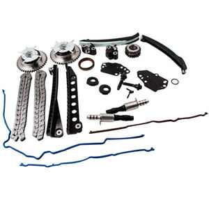 Fit Ford 5 4l V8 Triton 3 valve Engine Timing Chain Kit Cam Phaser Cover Gasket