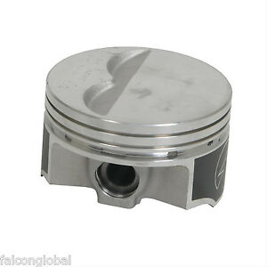 Speed Pro Trw Chevy 350 5 7 Forged Flat Top 2vr Pistons Set 8 Float Std W Rings