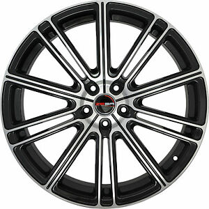 4 Gwg Wheels 20 Inch Black Machined Flow Rims Fits Infiniti G37s Coupe 2008 2013