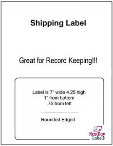 1000 Labels Paypal Ebay Shipping Receipt Click N Ship Ups Labels