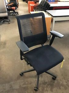 Executive Chair By Steelcase Leap V2 Model In Black Color fully Loaded 2007