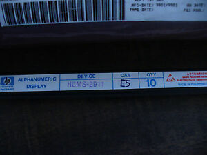 New 10 Hcms 2911 Yellow Alphanumeric Dot Matrix Displays By Hp