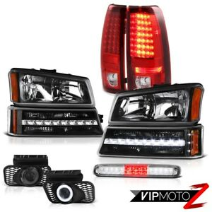 03 06 Chevy Silverado Roof Brake Light Headlamps Foglamps Bumper Red Taillamps