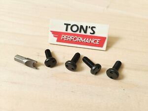Black Toyota Security Anti Theft Auto License Plate Screws Stainless Bolt Snake