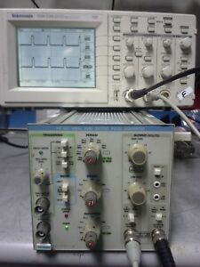 50mhz Pulse Generator Dual Output 20v P pk Tested Tektronix Pg507 With Tm502a