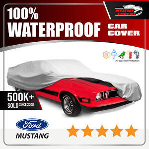 Ford Mustang Fastback Car Cover Ultimate Full Custom Fit All Weather Protect Fits 1968 Mustang