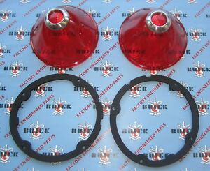 1960 Buick Tail Light Lenses With Gaskets Lesabre Invicta Electra