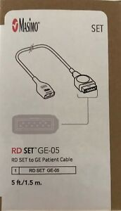New Masimo Rd Set Ge 05 Patient Cable 5ft 1 5m Ref 4084 in Original Box
