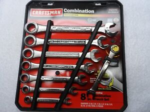 Craftsman Sae Combination Ratcheting Wrench Set Made Usa 8 Pcs Part 42444