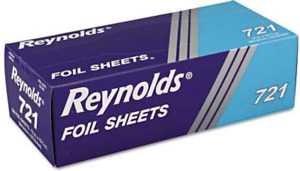 Reynolds Wrap Interfolded Silver Aluminum Foil Sheets 6 Boxes Of 500 Sheets
