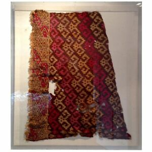 Framed Pre Columbian Textile Fragment From Peru