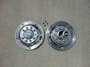 Ford F450 F550 19 5 05 19 10 Lug Stainless Dually Wheel Simulators Fronts